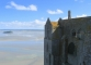the shifting tide and sand protect Mont Saint Michel