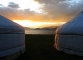 sunset at far west eclipse camp